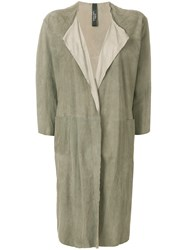 Giorgio Brato Long Open Front Coat Grey