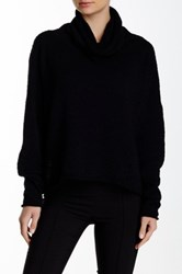 Planet Cowl Neck Boucle Knit Sweater Black