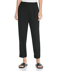 Vince Cuffed Crop Tapered Pants Black