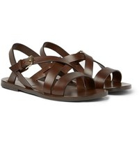 Tom Ford Leather Sandals Brown