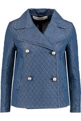 See By Chloe Embroidered Chambray Jacket Mid Denim