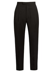 Etudes Tomorrow Tapered Leg Wool Trousers Black