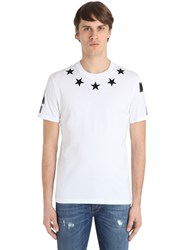 Givenchy Cuban Star Patch Cotton Jersey T Shirt