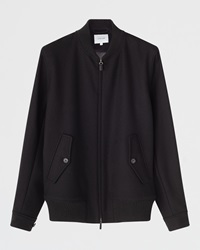 Jigsaw Jersey Bomber Jacket Black