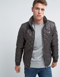 G Star Quilted Nylon Overshirt Jacket Brown
