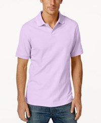 Club Room Big And Tall Performance Uv Protection Men's Polo Shirt Soft Periwinkle