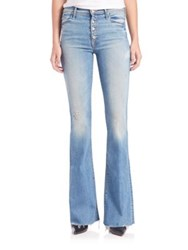 Mother Pixie Cruiser Frayed Flare Jeans