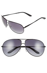 Men's Carrera Eyewear 64Mm Aviator Sunglasses Matte Black