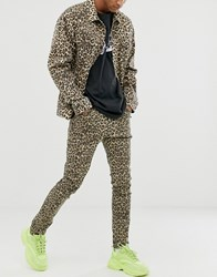 Cheap Monday Tight Skinny Jeans With Cheetah Print Stone