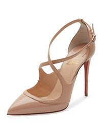 Christian Louboutin Chrissos Crisscross 85Mm Red Sole Pump Black Silver