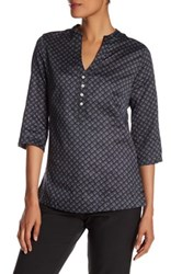 Peter Millar Woven Printed Dots Blouse Black