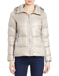 Vince Camuto Down Puffer Jacket Taupe