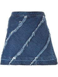 Christian Pellizzari Denim Short Skirt Blue