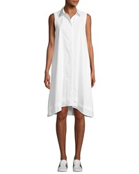 Ag Jeans Clover Button Front Sleeveless Shirtdress White
