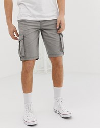 D Struct Cargo Shorts Grey