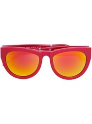 Smoke X Mirrors Thick Rim Gradient Sunglasses Unisex Acetate Red