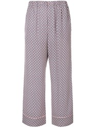Fendi Floral Flared Trousers Pink