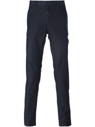 Incotex Denim Chino Trousers Blue