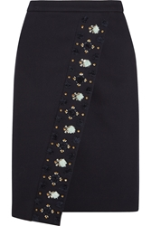 J.Crew Collection Embellished Bonded Twill Skirt