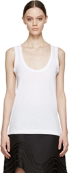 Sacai Luck White Lace Trimmed Tank Top