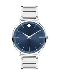 Movado 40Mm Ultra Slim Watch Silver