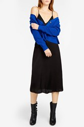 Proenza Schouler Women S Knitted Button Detail Jumper Boutique1 00415 Sapphire