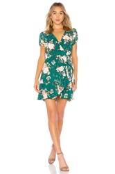 Auguste Frill Wrap Mini Dress Green