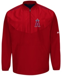 Majestic Men's Los Angeles Angels Of Anaheim Training Jacket Red