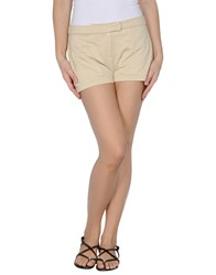 Douuod Fleecewear Sweat Shorts Women Beige
