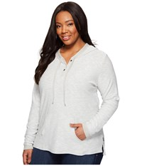 Columbia Plus Size Easygoing Hoodie Flint Grey Women's Sweatshirt Multi