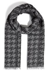 The Kooples Alpaca Blend Houndstooth Scarf