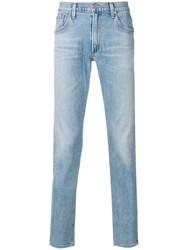 Citizens Of Humanity Stonewashed Slim Fit Jeans Blue