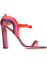 Paula Cademartori 'Milkyway' Sandals Red