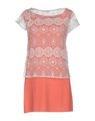 Lucky Lu Milano T Shirts Coral