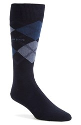 Men's Boss 'James' Argyle Socks Blue Navy