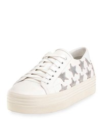 Saint Laurent Court Classic Leather Platform Sneaker Off White Platinum Off White Platin