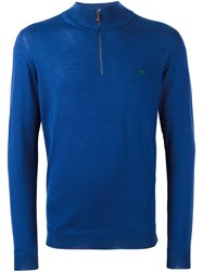 Etro Half Zip Sweater Blue