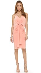 Tbags Los Angeles Knee Length Dress With Knot Detail Blush