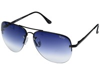 Quay Australia Muse Fade Black Navy Fade Fashion Sunglasses Blue