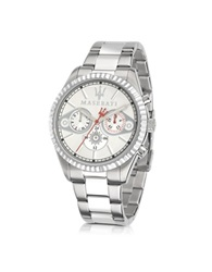 Maserati Competizione Chronograph Multi Silver Dial Stainless Steel Men's Watch