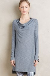 Anthropologie Cowled Jersey Tunic Slate