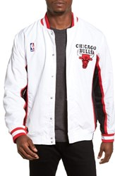 Mitchell And Ness Men's Big Tall 'Chicago Bulls' Authentic Warm Up Jacket White