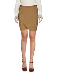Rick Owens Mini Skirts Khaki