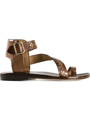 Calleen Cordero 'Amanda 2' Sandals Brown
