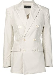 Dsquared2 Double Breasted Blazer Neutrals