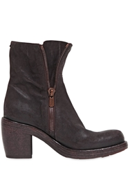 Rocco P. 90Mm Zipped Suede Boots Aubergine