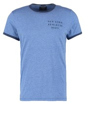 Abercrombie And Fitch Print Tshirt Blue Abercromie Football Dark Blue