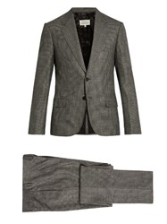 Maison Martin Margiela Micro Checked Slim Fit Wool Suit Grey Multi