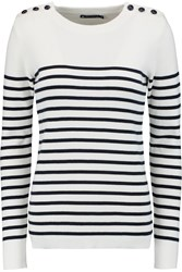 Petit Bateau Marin Striped Cotton Sweater Blue