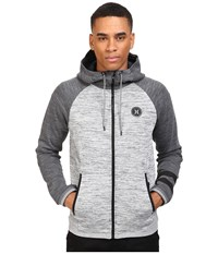 Hurley Phantom Motion Zip Tech Jacket Dark Grey Heather Men's Coat Gray